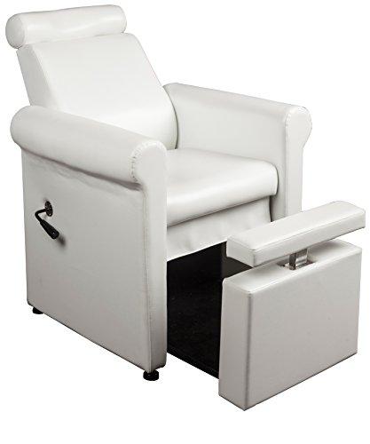 Salon & Spa Pure Heaven Pedicure Spa Chair in White + Free Cape Co. Apron ($20 Value)