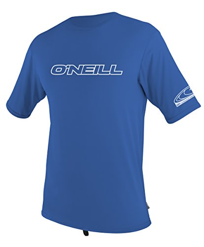 O'Neill Wetsuits Men's Basic Skins UPF 50+ Short Sleeve Sun Shirt, Royal, - Mens Wetsuits
