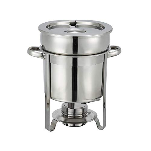 Winco 207 Stainless Steel Soup Warmer, 7-Quart, - Warmer Soup 7 Quart