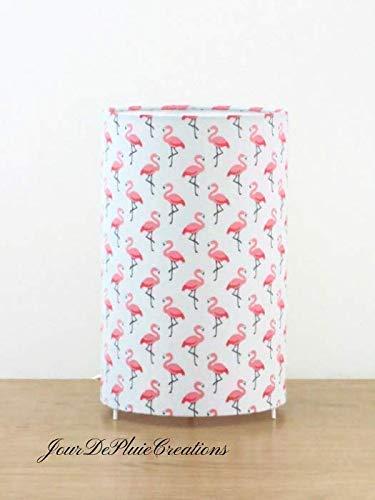 lampe tube motif flamant rose - lampe chevet - lampe d ...