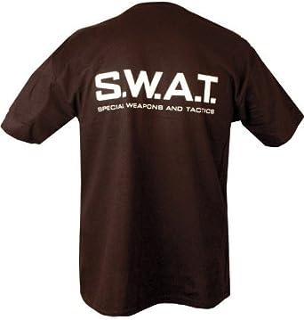 Kombat Militar Hombre Impresa Policía Francotirador Ejército Combate Swat Seguridad Negro FBI Británico Ejército de Estados Unidos Camiseta Camiseta: Amazon.es: Ropa y accesorios