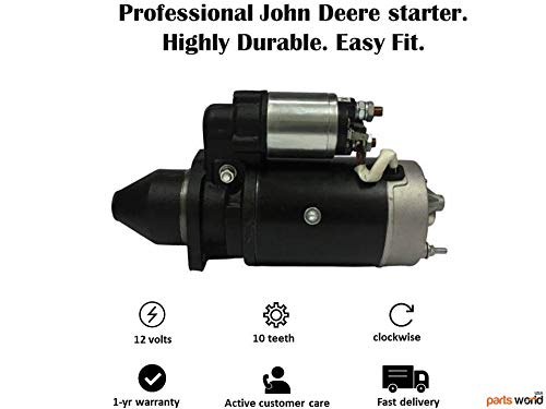 17095 Starter Motor John Deere 1020 1030VU 1065 2840 2940 3030 3040 3120 3130 2150 3055 3155 3255 2020 2030OU AT23401 AR70436 TY6780 TY25974 AL78760 0-001-359-016 0-001-367-078 0-001-358-041 IS0534