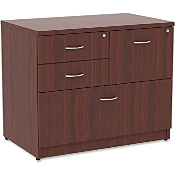 Lorell Essentials 4 Drawer Lateral File Cabinet in Mahogany