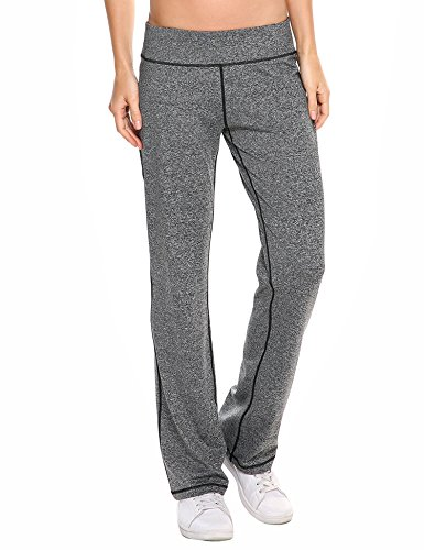 (IN'VOLAND Women's Boot Cut Yoga Pants Tummy Control Workout Sweatpants Boot Leg Pants for Yoga Running)