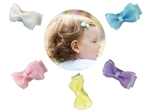 anza Hair Bows Baby Girls Toddlers - PerfectPastels Gift Set (Tiny Infant Light)