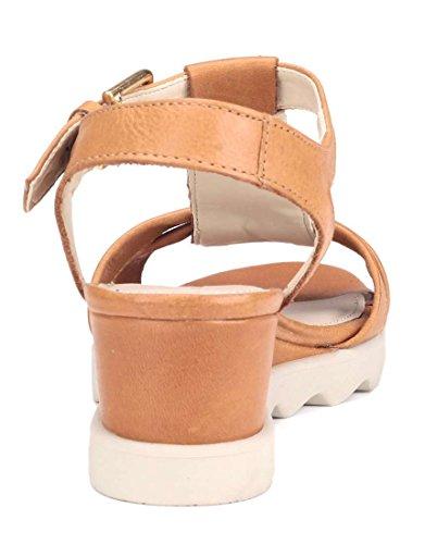 Litchies Sandale Marron Flexx Compensée Semelle Femme The nUzWx