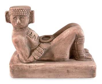 NOVICA 94726 Chac Mool Ceramic Figurine
