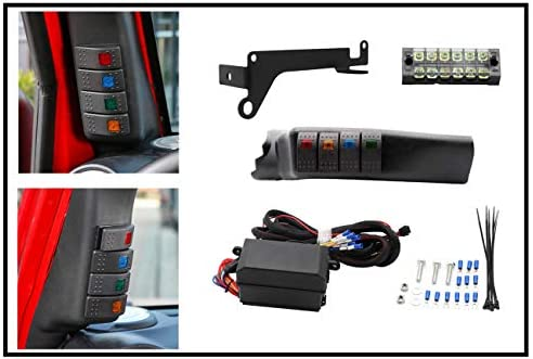 Left Side A-Pillar 4-Switch Pod/Panel and Fuse Relay Box ... Jeep Fuse Relay Box on