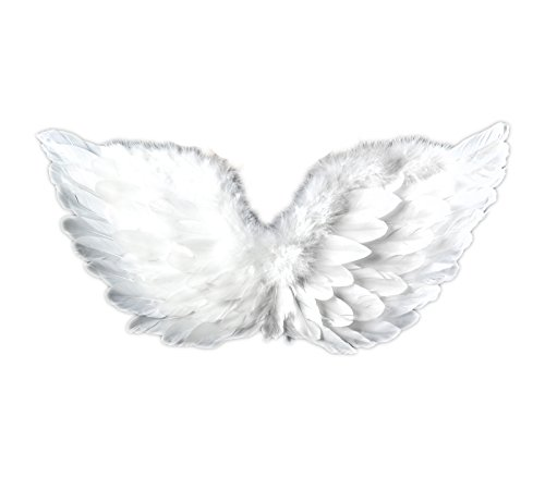 Touch of Nature 10944 Feather Adult Angel Wing with Halo, White 28 X 16-Inch