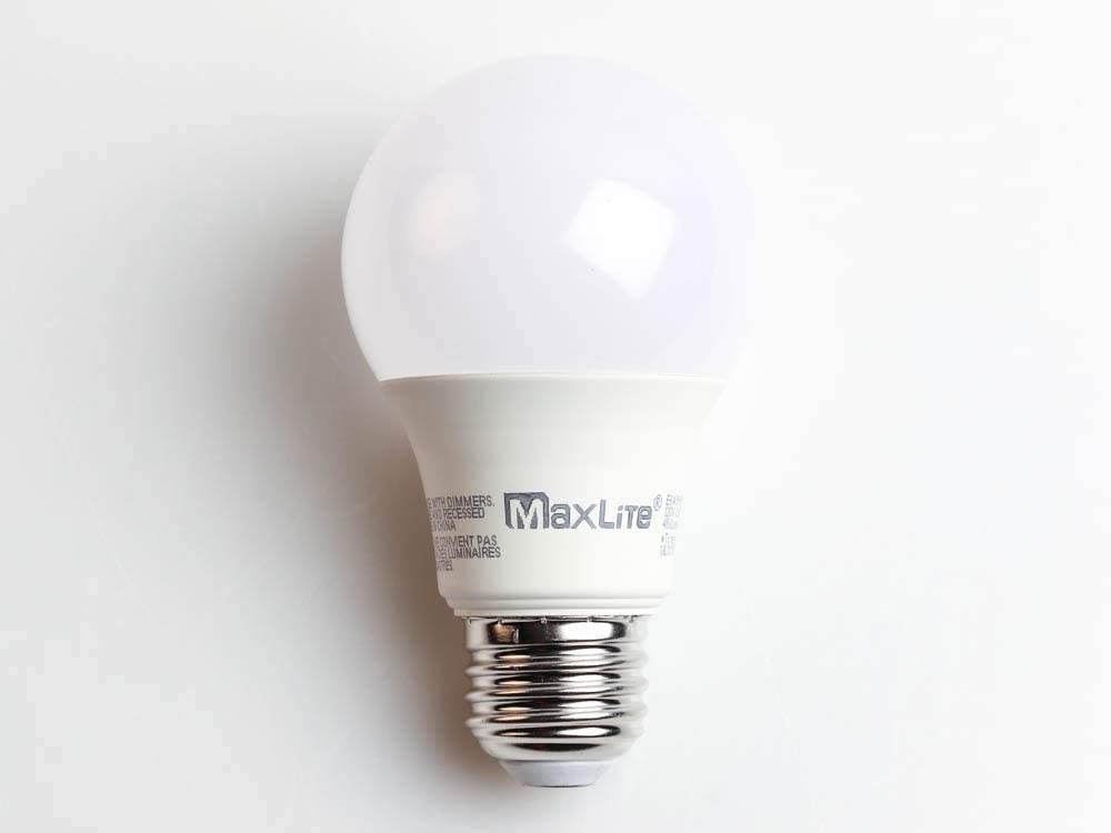 Maxlite Non-Dimmable 6W 3000K A19 LED Bulb Enclosed Rated