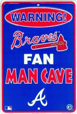 Sign Atlanta Braves Street - Smart Blonde Atlanta Braves Man Cave Fan Metal Parking Sign