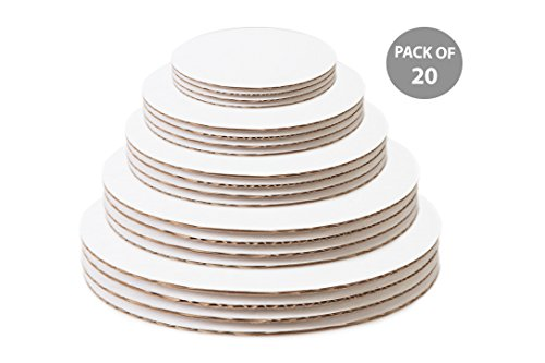 Variety Circles - Cake Boards Circles Variety Pack - 6 Inch, 8 Inch, 10 Inch, 12 Inch, 14 Inch, 4 of Each Size - White Cake Board Cardboard Bases Multi Pack