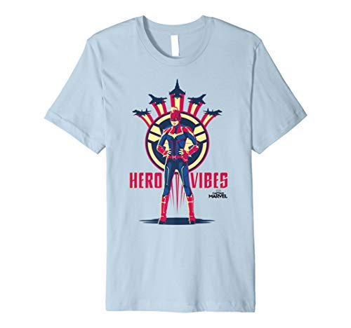 Captain Marvel Movie Hero Vibes Planes Premium T-Shirt -