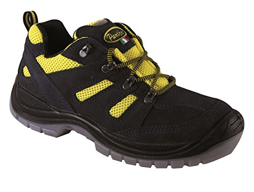 Panther 2728302la _ 43Woody Yellow Low S1P Arbeitsschuhe, Größe 43, Blue/Yellow