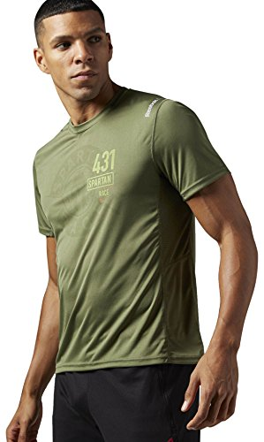 (Reebok Men's Spartan Race Short Sleeve Tech Tee, Canopy Green R, XX-Large)