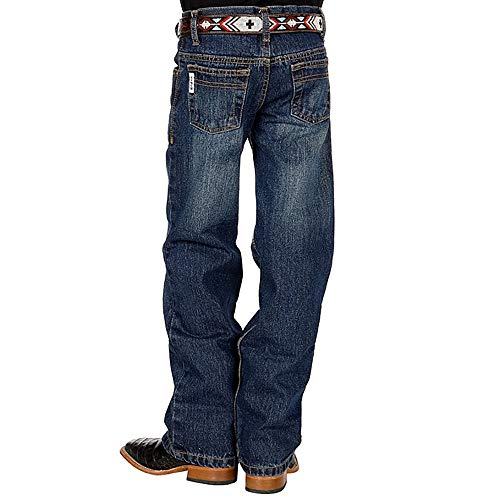 Cinch Boys' Big White Label Regular Jeans, Dark Stone wash, 10R