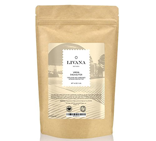 Price comparison product image Livana Natural 100% Pure and Unrefined Virgin Shea Butter, 1 lb.