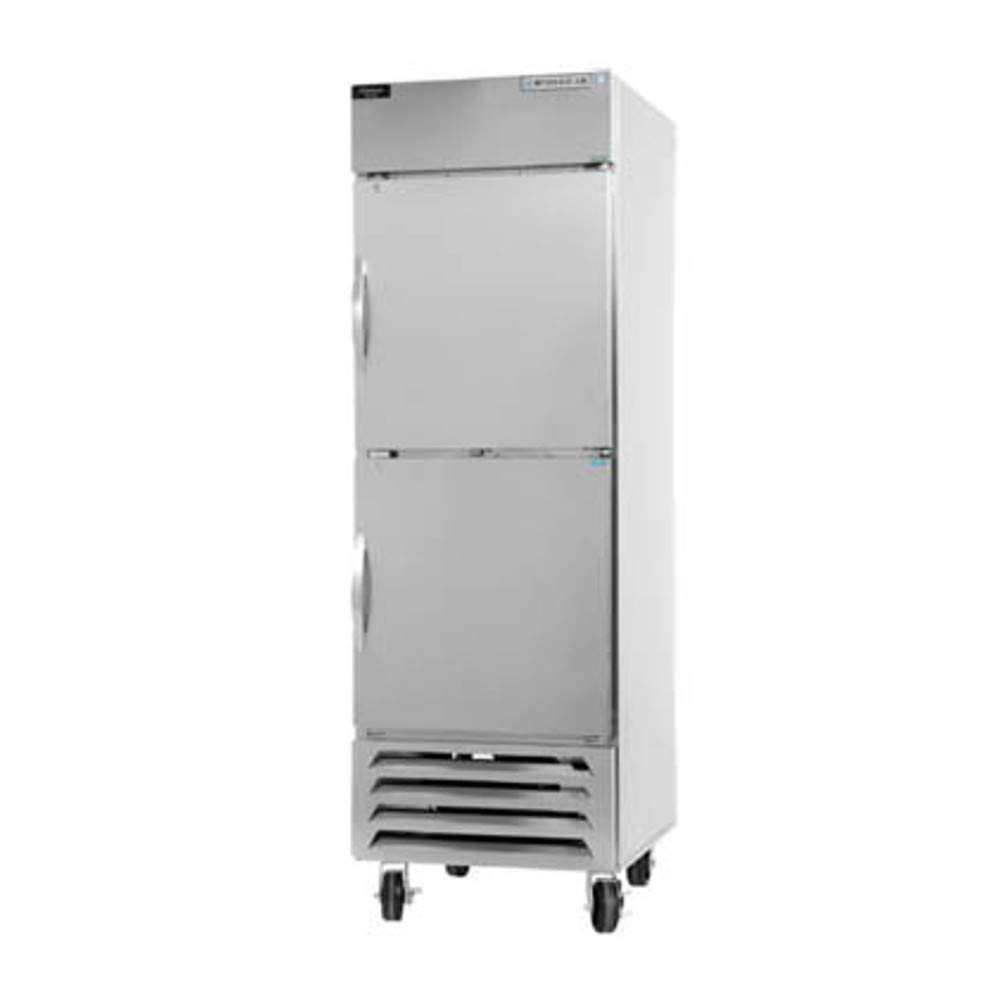 Beverage Air HBRF23-1 Horizon Series Dual Temp Refrigerator Freezer, Single Section with Half-Height Doors