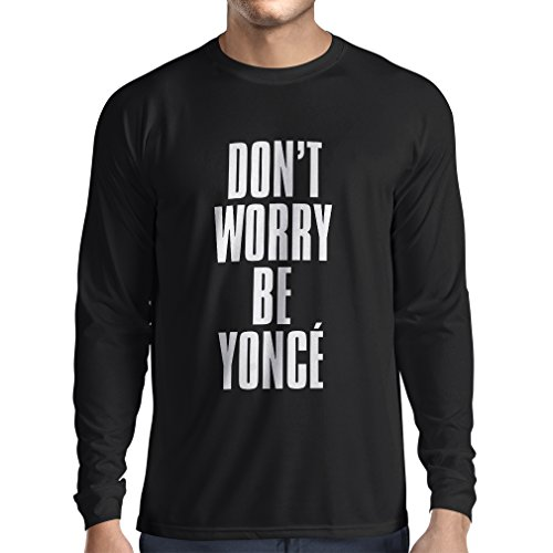 lepni.me Men's T-Shirt Don't Worry Be Yourself Quotes, Famous Positive Sayings (XX-Large Black - Calendar 1967