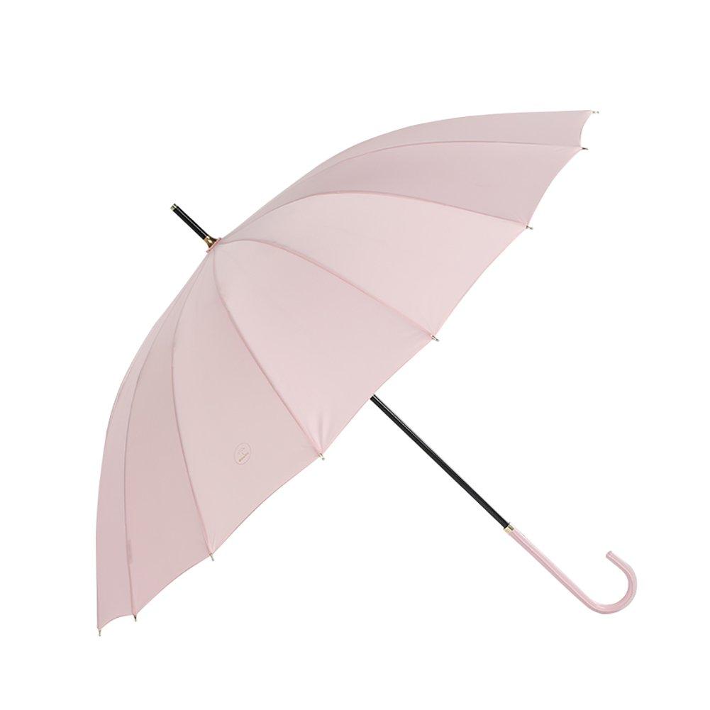 Vintage Long Handle Umbrella lady Girl Style Stick Umbrella 16K (Color : Pink)