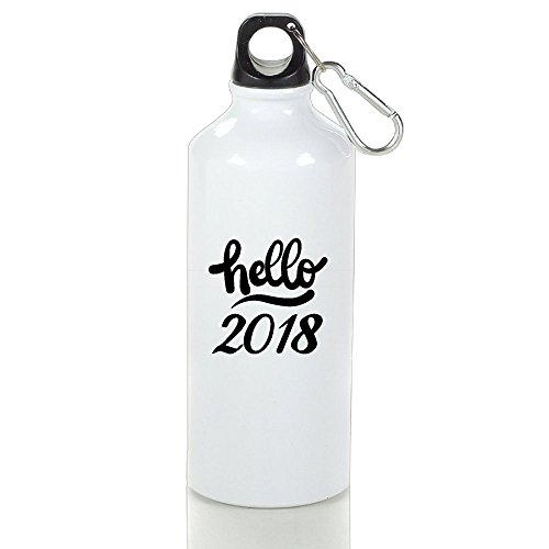 BPA Free Aluminum Hello 2018-1 Sport Water Bottle. Eco Friendly, Sweat Proof Bottle, Great For Outdoor And Sport - New Mall Woodbury York