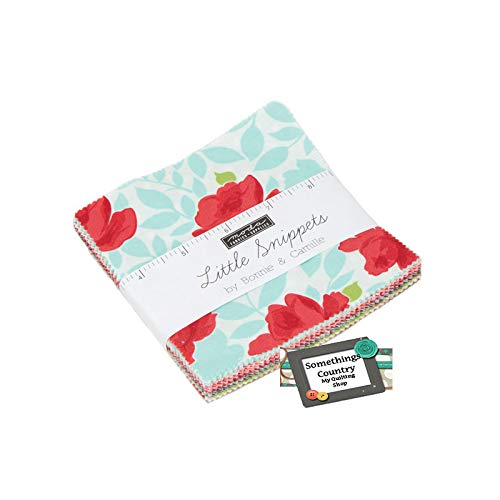 (Little Snippets Charm Pack by Bonnie & Camille; 42-5 Inch Precut Fabric Quilt Squares)