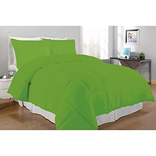 queen lime green comforter set