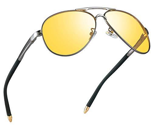 Night Vision Glasses for Driving - FEIDU HD night driving glasses anti glare polarized mens women glasses