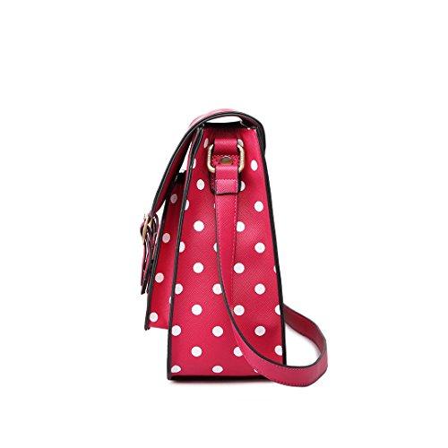Miss Lulu , Damen Satchel-Tasche Pink rose