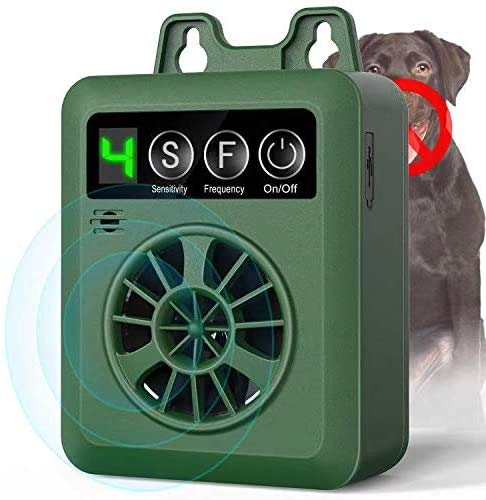 BISEBIN Anti Barking Device, Ultrasonic Bark Control Device with 4 Adjustable Ultrasonic Volume Levels, Automatic Dog…