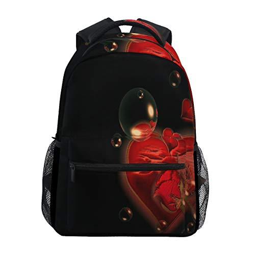 Women/Man Canvas Backpack Dark Love HD Desktop Wallpapers Vintage Zipper College School Bookbag Daypack Travel Rucksack Gym Bag for Youth