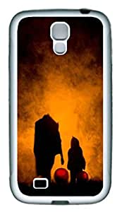 Galaxy S4 Case, Personalized Custom Protective Soft Rubber TPU White Edge Halloween Back Case Cover for Samsung Galaxy S4 I9500