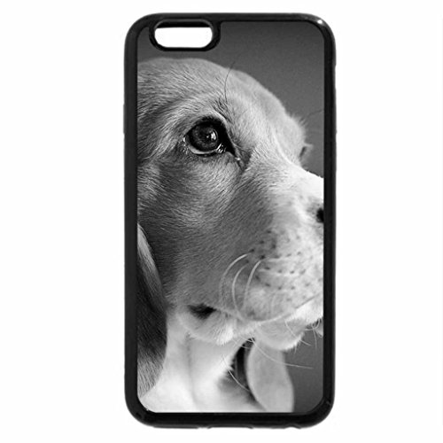 iPhone 6S Plus Case, iPhone 6 Plus Case (Black & White) - Beagle
