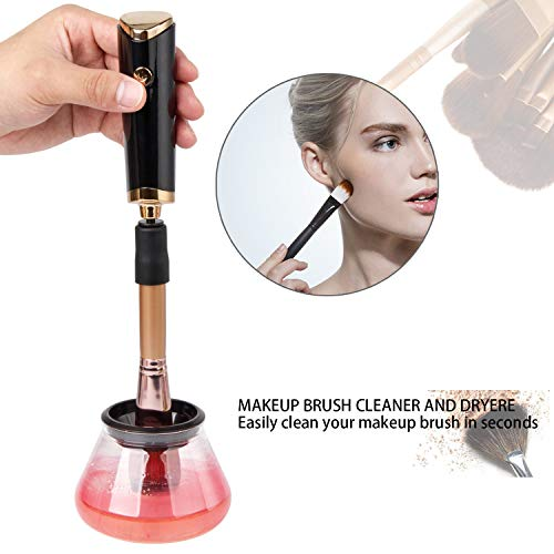 WILTEEXS Electric Makeup Brush Cleaner and Dryer Automatic Electronic Professional Spinner-Makeup Quick