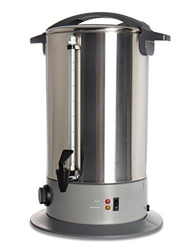 TECVANCE 16L Edelstahl Universalkocher / Glühweinkocher / Glühweintopf mit Hahn / Glühweinautomat, Füllstandsanzeige , GS-geprüft
