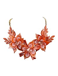 Niumike Lily Statement Necklaces for Women,Elegant Chunky Necklace with Box