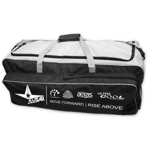 All Star Pro Catching Roller Bag Black (Baseball Roller Bag)