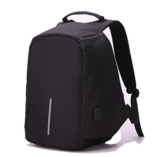 packs03 zy-School Backpacks03 Anti Theft Backpack USB Port Laptop, Black ()