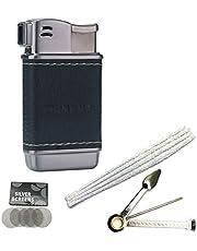 Pijpaansteker Soft Flame Navulbare butaanaanstekers Tsjechische pijpgereedschappen (Zwart N)
