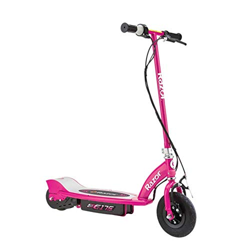 Razor E175 Kids Ride On 24V Motorized Battery Powered Electric Scooter Toy, Speeds up to 10 MPH with Brakes and Pneumatic Tires, Pink
