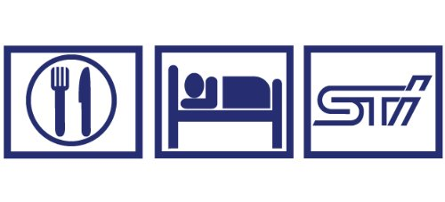 2 x Eat Sleep STI8.5x2.2