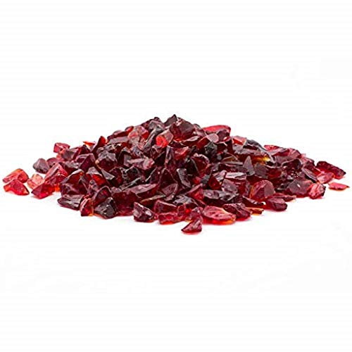 "Margo Garden Products 1/4"" 10lbs Dragon Glass, 10 lb, Red"