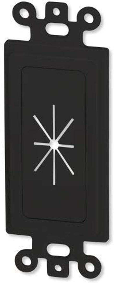 DATA COMM Electronics 45-0016-BK Decor Insert w/Flexible Opening - Black