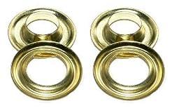 #4 (1/2'' id) ClipsShop Brass Grommets Q...