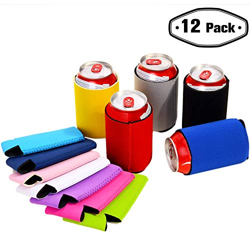Upower Can Koozies Cooler - Insulated Neoprene Beer Bottles Sleeve Holder Bulk - Coozies Blank for DIY Custom Wedding Favor, Funny Party Gift -