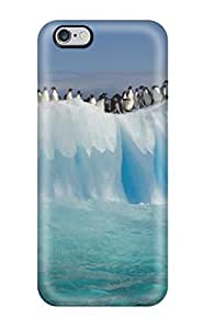 DVmvCIo2303XCsrF pc Case Skin Protector For Iphone 6 Plus Many Penguins On An Ice Bench With Nice Appearance