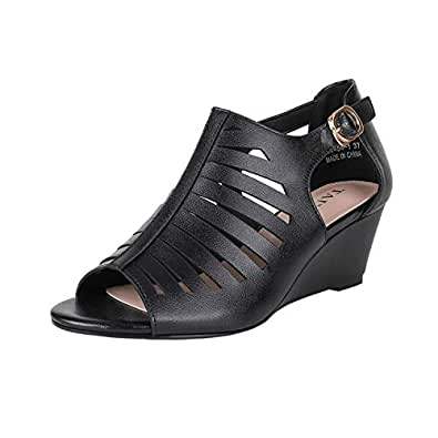 Taiyu Black High Heels Sandals for Women Shoes Heel Height 2.16inch