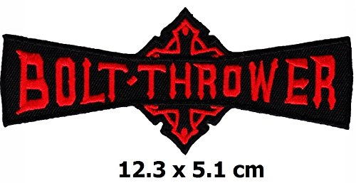 (Bolt Thrower patch Iron on Logo Vest Jacket cap Hoodie Backpack Patch Iron On/sew on patch)