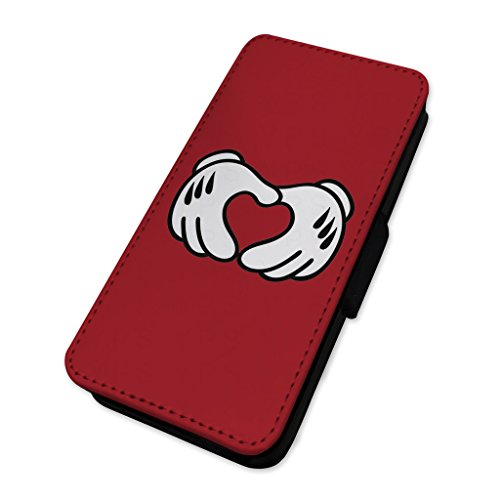 Love Heart Hands – Cartoon mani – Flip cover in pelle cover Apple Iphone 5/5s/SE