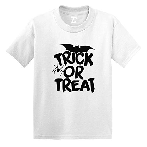 Trick Or Treat - Halloween Spooky Scary Infant/Toddler Cotton Jersey T-Shirt (White, 6 Months) ()